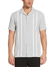 Men's Big & Tall Contrast Panel Camp Shirt