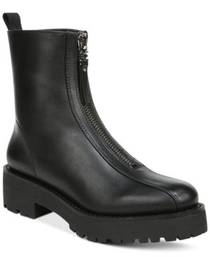 Sam Edelman Boots WOMEN'S JACQUIE ZIP-FRONT LUG SOLE BOOTIES WOMEN'S SHOES