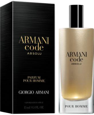 armani code for him