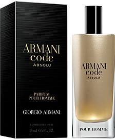 Receive a Complimentary deluxe mini with any large or jumbo spray purchase from the Giorgio Armani Code Fragrance Collection