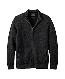 Mens Full Zip Shetland Sweater