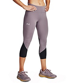 Women's Fly Fast HeatGear® Colorblocked Cropped Leggings