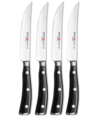 wusthof classic ikon steak knives 4 piece set