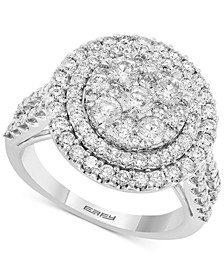 EFFY® Diamond Halo Cluster Engagement Ring (1-7/8 ct. t.w.) in 14k White Gold