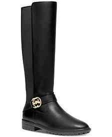 COACH Women's Farrah Logo Buckle Tall Riding Boots