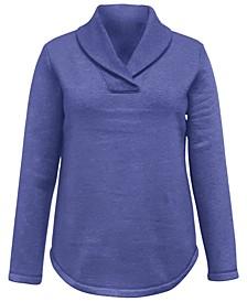 Shawl Collar Fleece Top, Created for Macy's