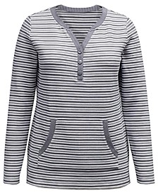 Striped Henley Top, Created for Macy's