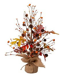 "20"" Harvest Table Tree Decor"