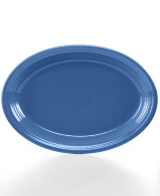 "Lapis 13"" Oval Platter"