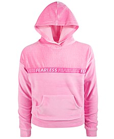 Big Girls Velour Pullover Hoodie, Created for Macy's