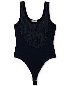 Fringe-Neck Bodysuit, Created For Macy's