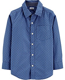 Little Boy Poplin Button-Front Shirt