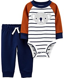 Baby Boy  2-Piece Koala Bodysuit Pant Set