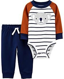 Baby Boy  2-Piece Koala Bodysuit Pant Set