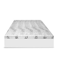 "4"" Charcoal Infused Memory Foam Mattress Topper"