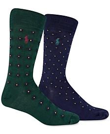 폴로 랄프로렌 2팩 양말 세트 Polo Ralph Lauren Mens 2-Pk. Foulard Slack Socks