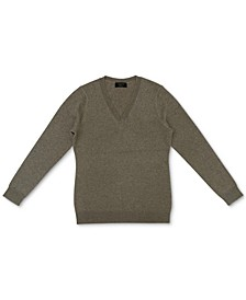 Cashmere-Metallic V-Neck Sweater, Created for Macy's