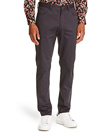 Tallia Men's Slim-Fit Grey Houndstooth Pants and a Free Face Mask With Purchase