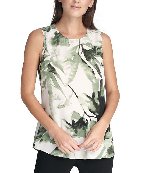 DKNY Sleeveless Printed Top