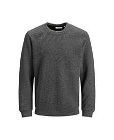 Men's Structured Long Sleeve Crew Neck Sweatshirt