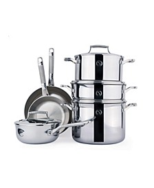 Selects Voyage Series Tri-Ply Stainless Steel 10-Pc. Cookware Set