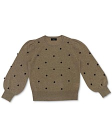 Dotty Pom Pom Cashmere Sweater, Created for Macy's