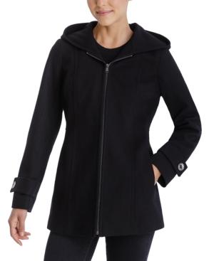 Zip-Front Hooded Coat