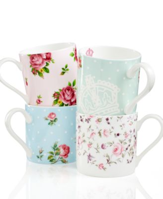 Dinnerware, Set of 4 Old Country Roses Mugs