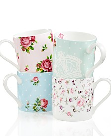 Royal Albert Dinnerware, Set of 4 Old Country Roses Mugs