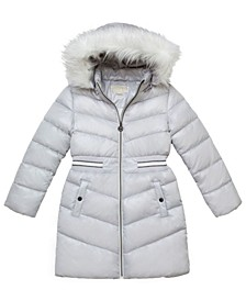 Big Girls Walker Length Puffer Jacket