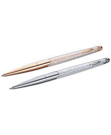 Two-Tone 2-Pc. Set Crystalline Nova Ballpoint Pens