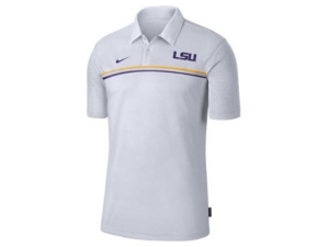 Nike Men's Lsu Tigers Sideline Coaches Polo