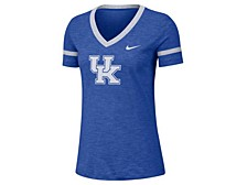 Women's Kentucky Wildcats Slub V-Neck T-Shirt