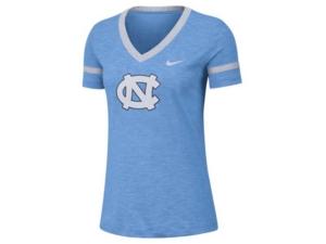 Nike Women's North Carolina Tar Heels Slub V-Neck T-Shirt