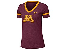 Women's Minnesota Golden Gophers Slub V-neck T-Shirt