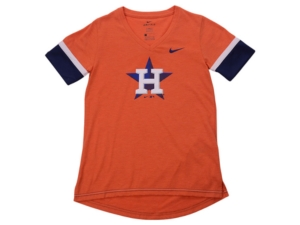 Nike Youth Houston Astros Girls V-Neck Hero T-Shirt