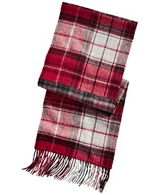 Men's Plaid Patchwork Cashmere Scarf, Created for Macy's