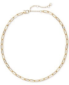 "Gold-Tone Cable-Chain Link Collar Necklace, 16"" + 3"" extender"
