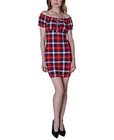 Ultra Flirt Juniors' Emma Off-The-Shoulder Dress