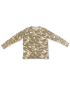 Petite Camo-Print Sweatshirt, Created for Macy's