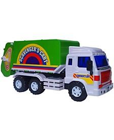 Mag-Genius Medium Duty Friction Powered Garbage Truck Toy
