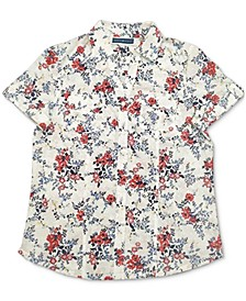 Tuscan Garden Cotton Printed Shirt, Created for Macy's
