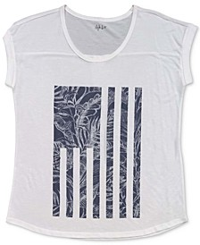 Tropical Flag Graphic T-Shirt, Created for Macy's