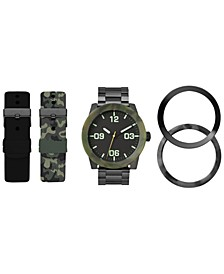 Men's Interchangeable Strap & Bezel Watch 48mm Gift Set