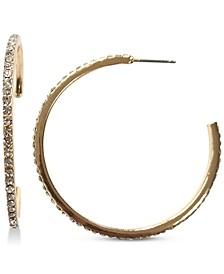 """INC Medium Pavé Open Hoop Earrings, 1.78"""", Created for Macy's"""