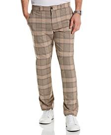 Men's Slim-Fit Plaid Pants