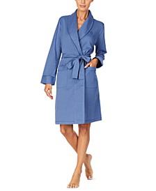 Herringbone Short Wrap Robe