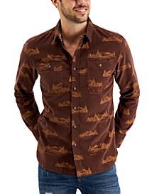Men's Mountain View Regular-Fit Printed Corduroy Shirt