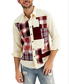 Men's Lawrence Regular-Fit Patchwork Corduroy Shirt