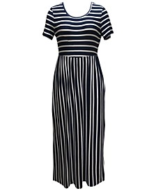 Petite Striped Maxi Dress, Created for Macy's